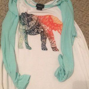 Multicolor Elephant Blouse